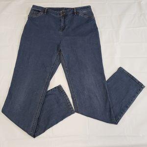 J Jill Slim Leg Jeans Tried & True Fit Sz 12 Tall